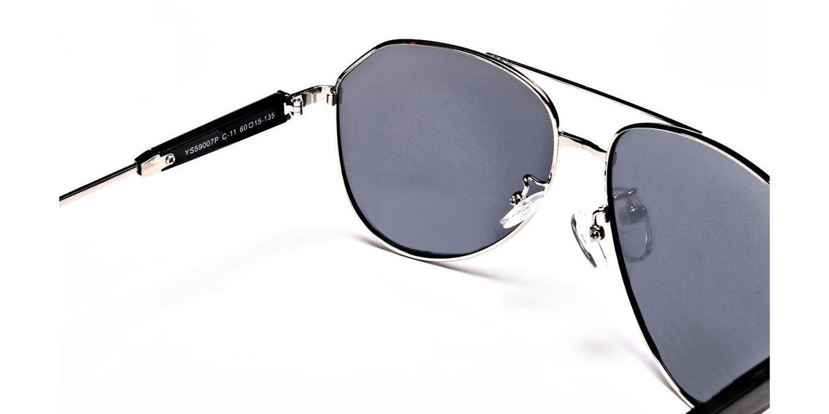 Silver & Grey Mens Sunglasses -2