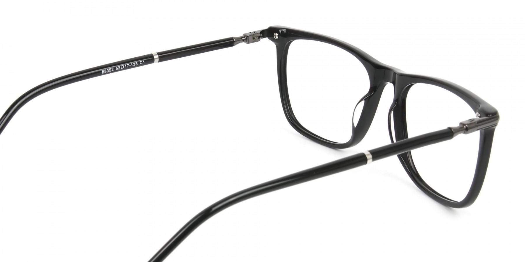 Geek Black Rectangular Spectacles in Acetate - 1