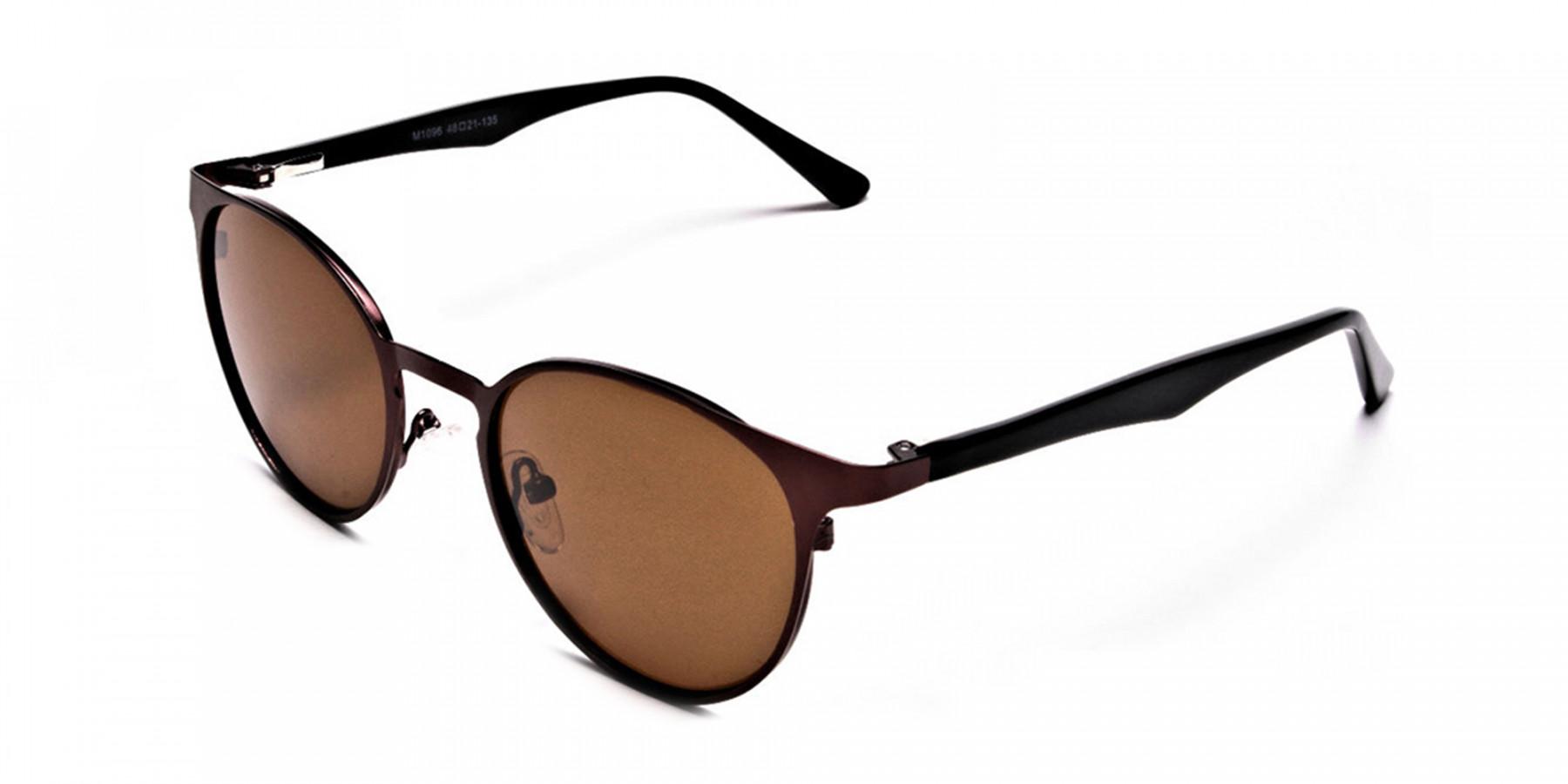 Dainty brown sunglasses -2