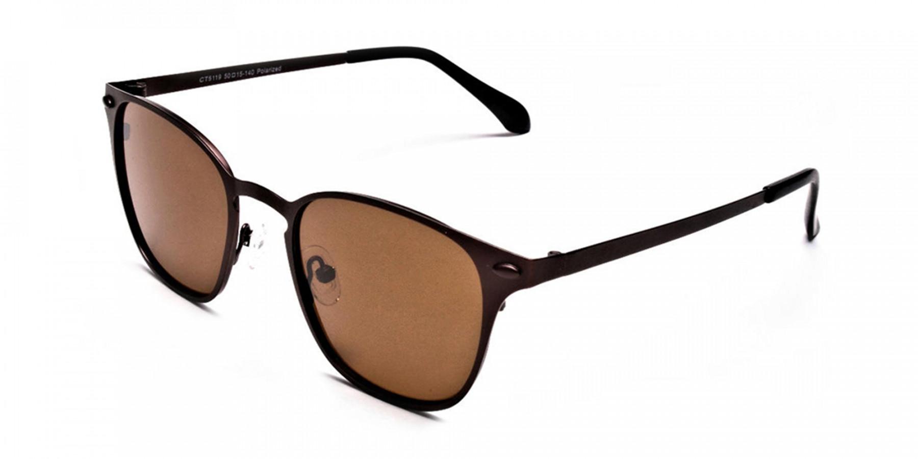Brown Round Sunglasses - 2