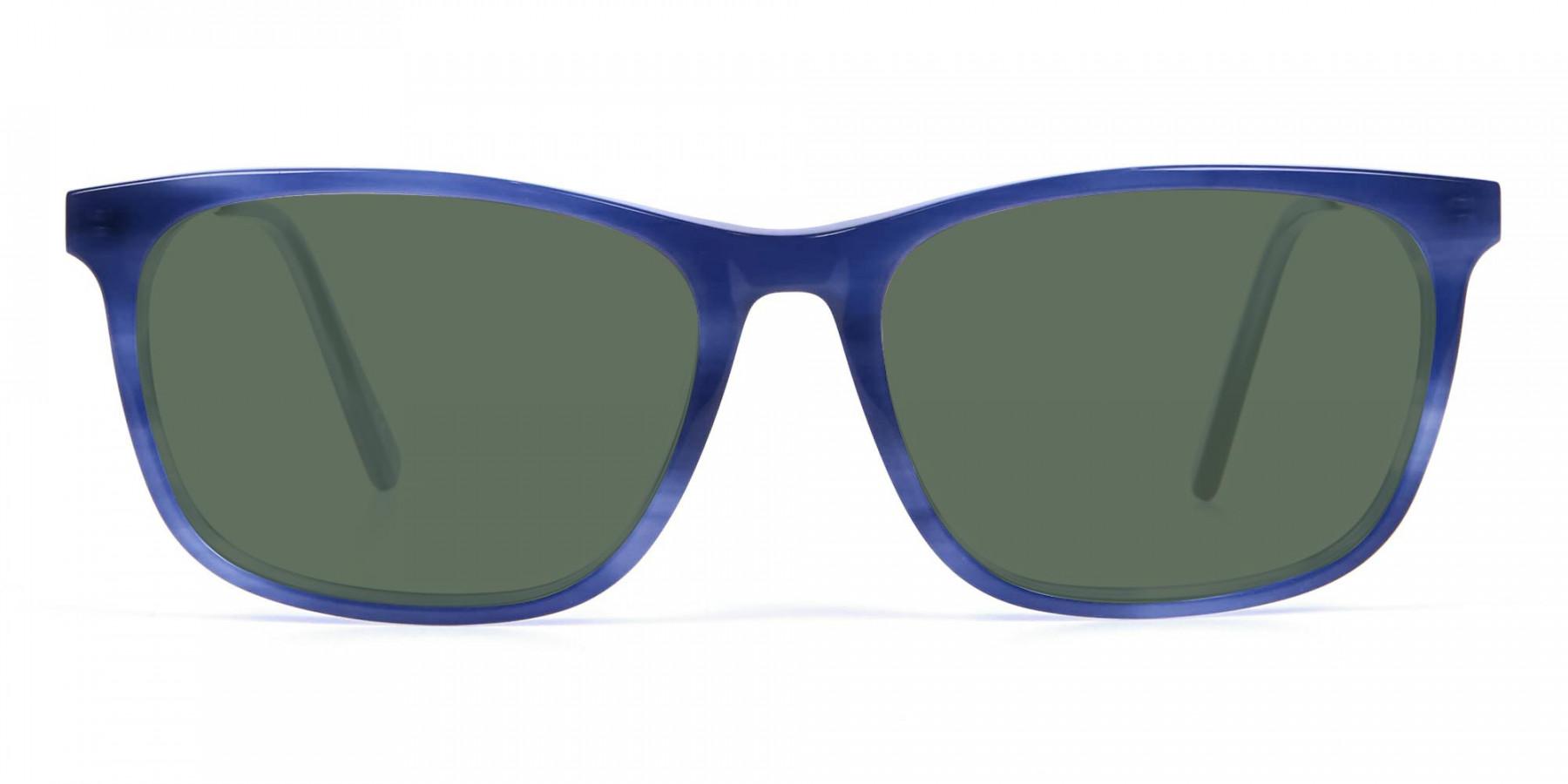 Dark Green Tinted Sunglasses - 3