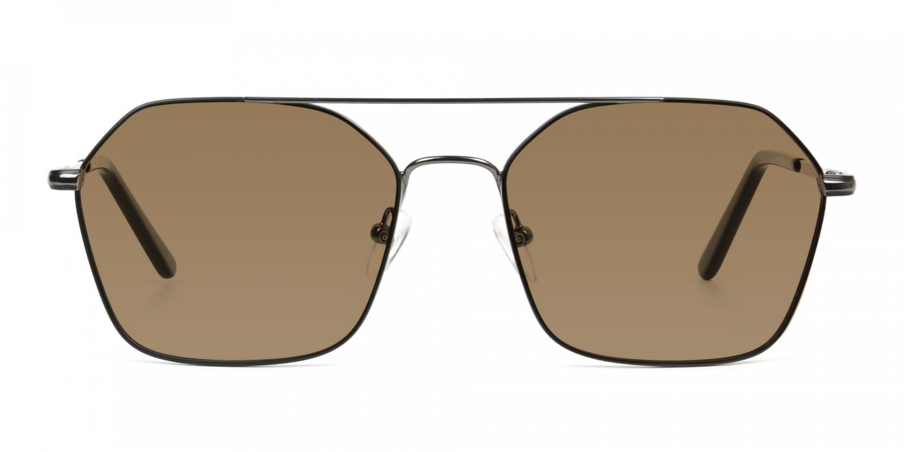 black-gunmetal-geometric-aviator-brown-tinted-sunglasses-frames-3