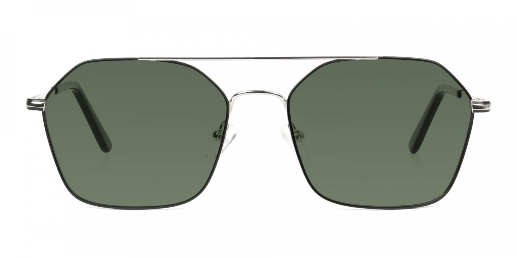 black-and-silver-geomatric-metal-aviator-green-tinted-sunglasses-3