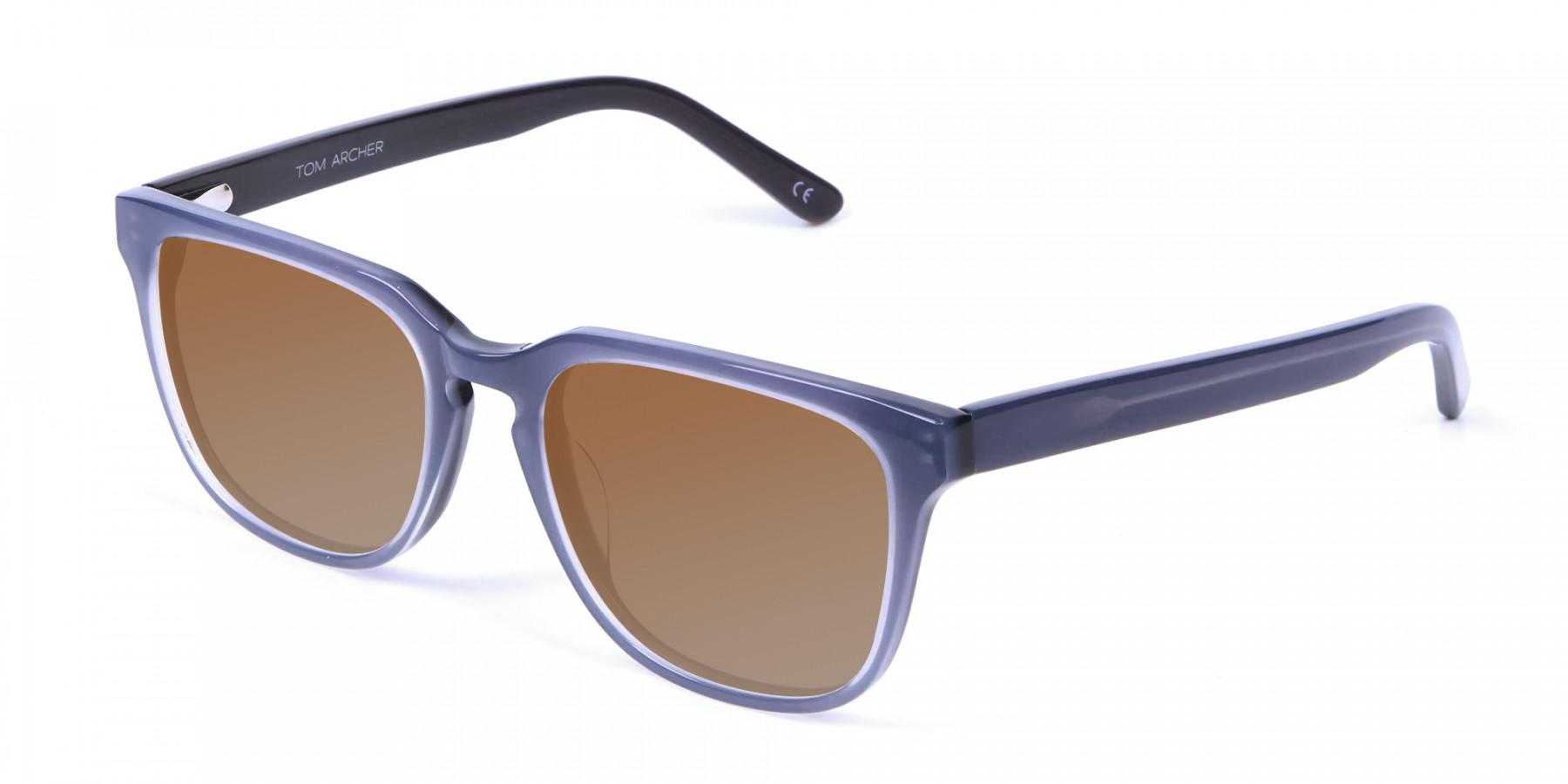 Boxy Sunglasses in Silver Grey  - 3