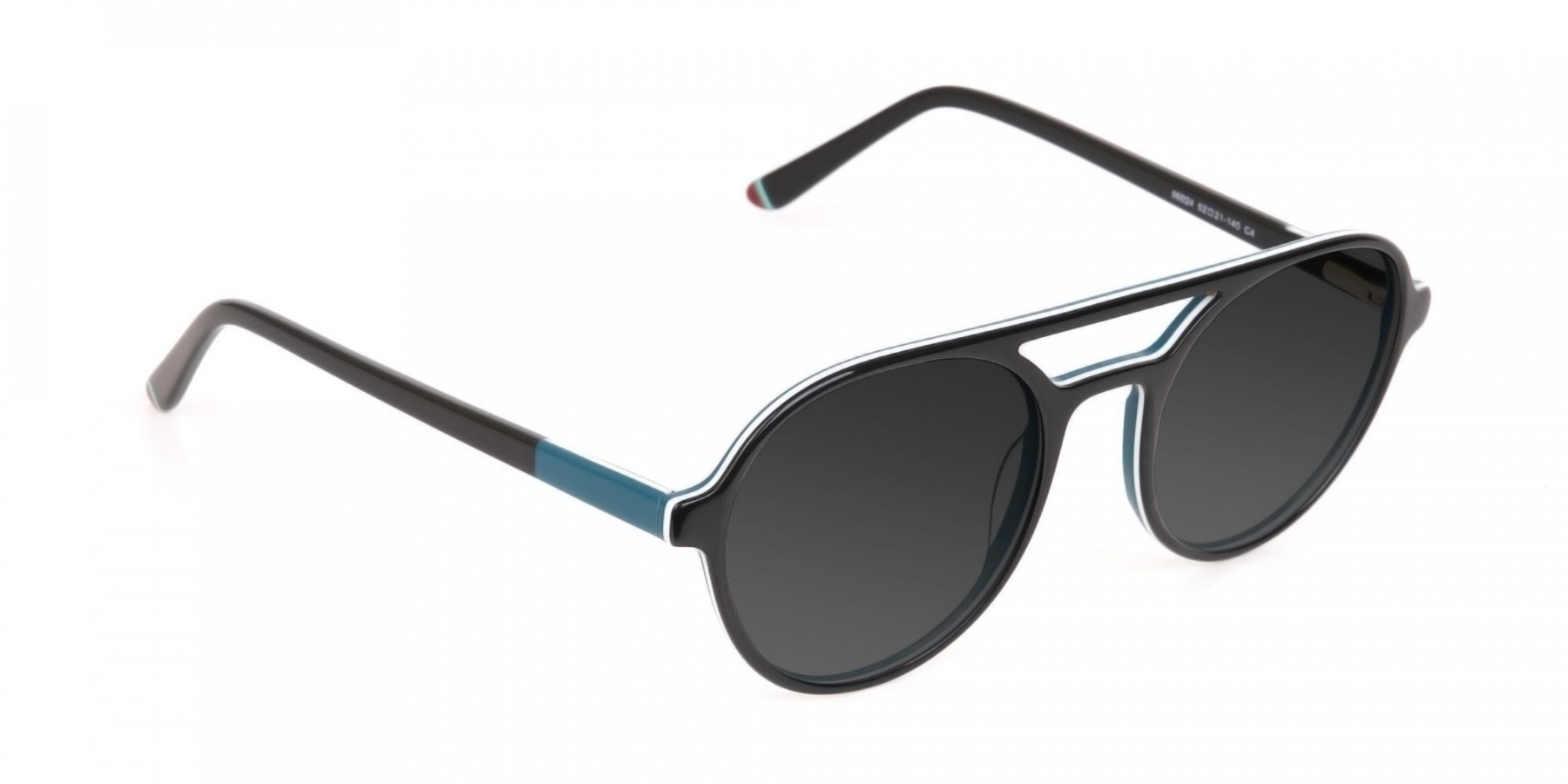 Black and Turquoise Sunglasses - 3