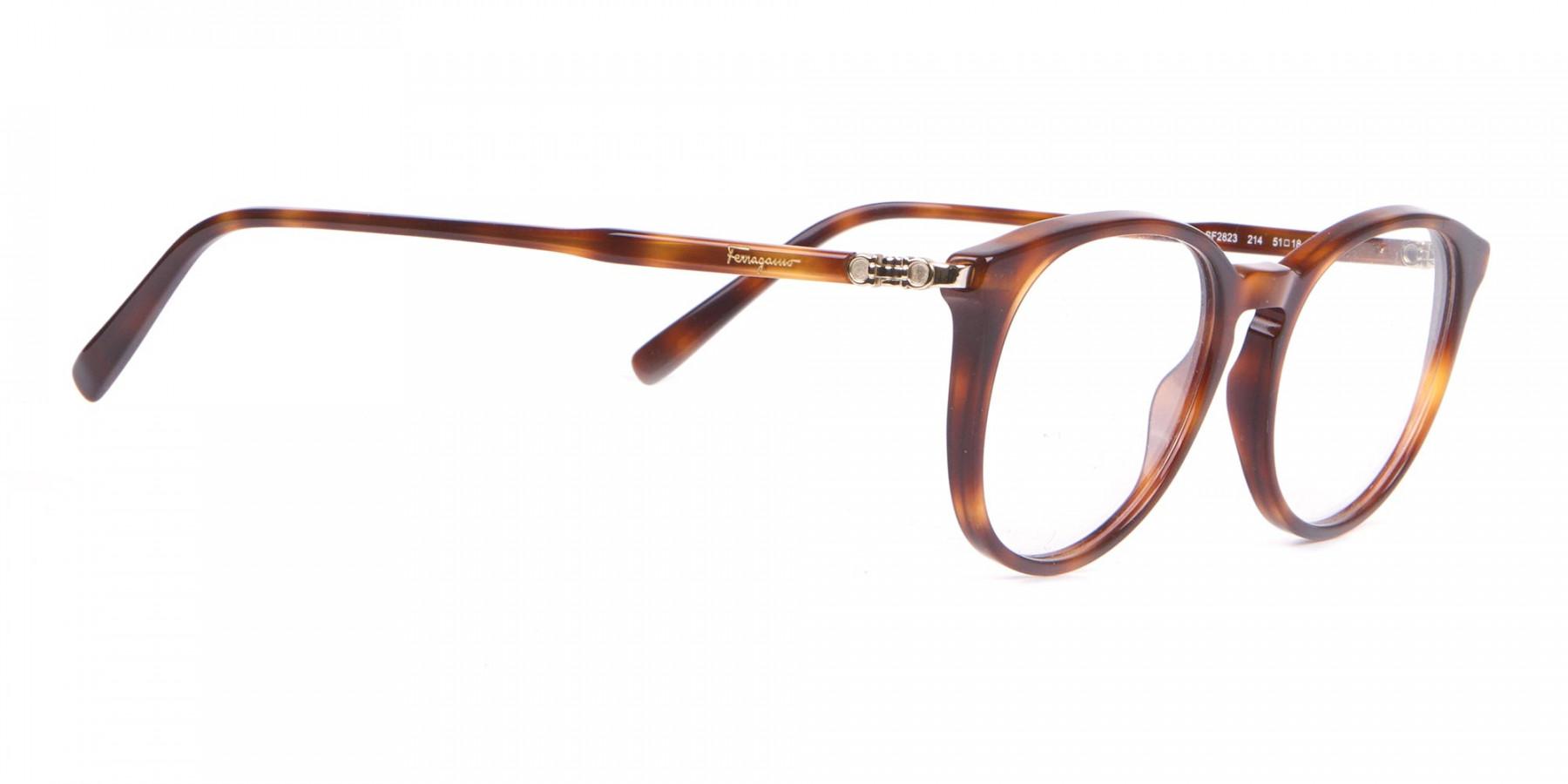 Salvatore Ferragamo SF2123 Retro Round Glasses Tortoise-1