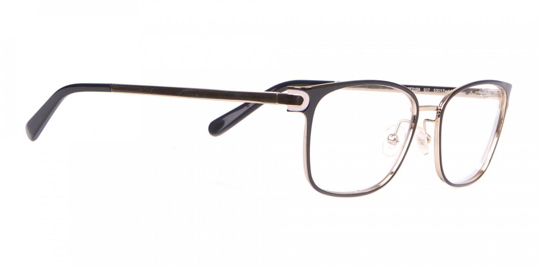 Salvatore Ferragamo SF2159  Metal Rectangular Frame Black-1