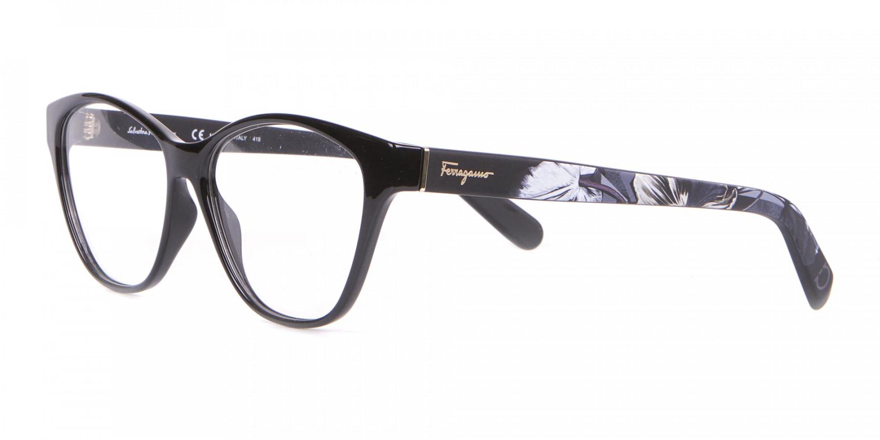 Salvatore Ferragamo SF2836 Women's Cat Eye Glasses Black-1