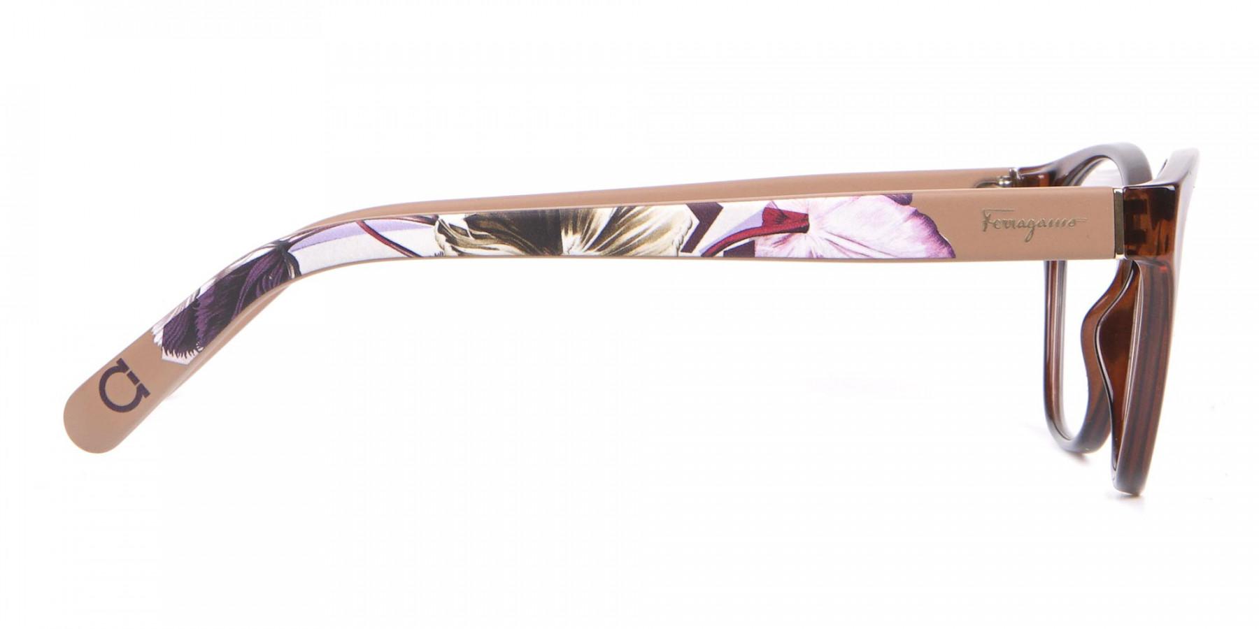 Salvatore Ferragamo SF2836 Women's Cat Eye Glasses Brown-1