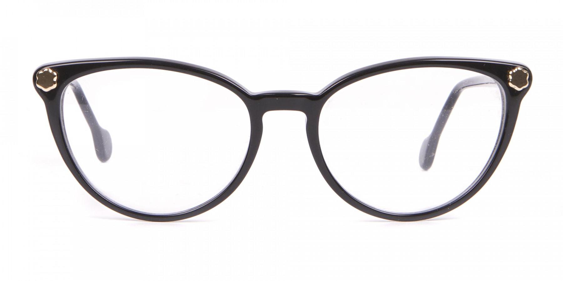 Salvatore Ferragamo SF2837 Women's Cateye Glasses Black-1