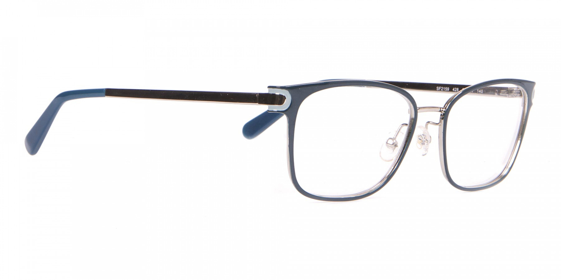 Salvatore Ferragamo SF2159  Metal Rectangular Frame Navy-1