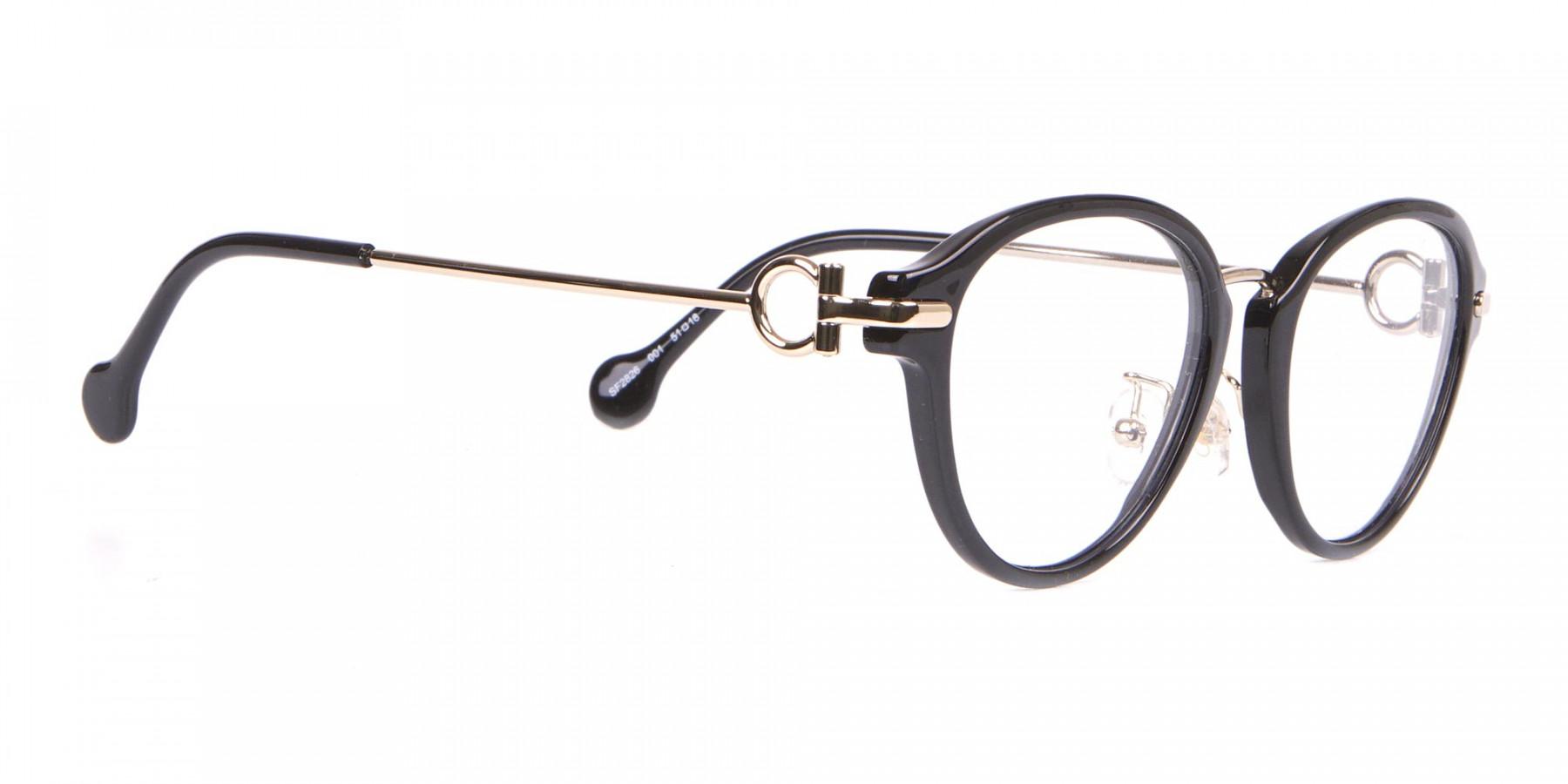 Salvatore Ferragamo SF2826 Women's Round Glasses Black-1