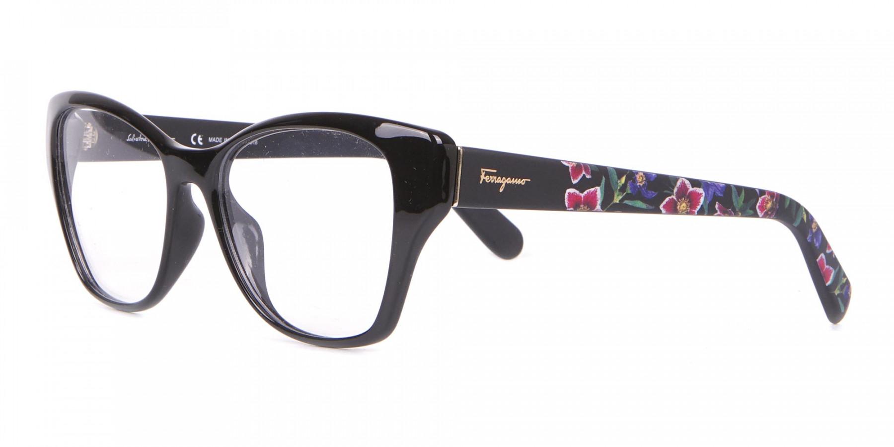 Salvatore Ferragamo SF2827 Cateye Wayfarer Glasses Black-1