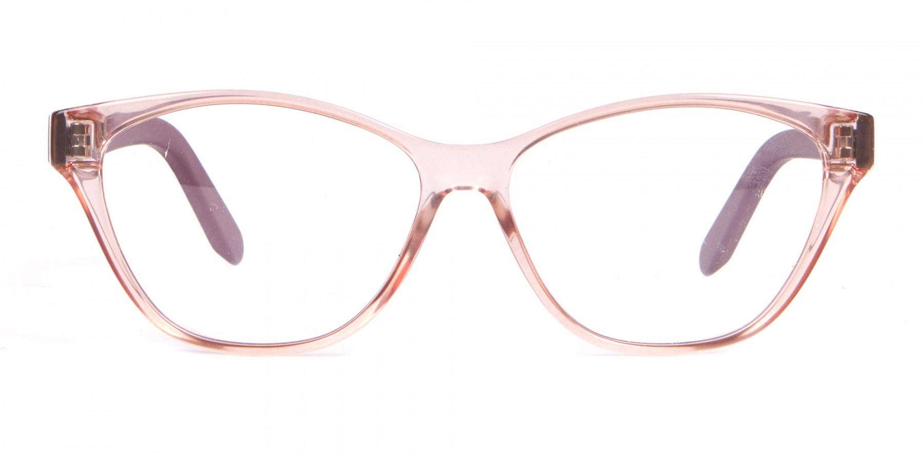 Salvatore Ferragamo SF2836 Women's Cat Eye Glasses Nude-1