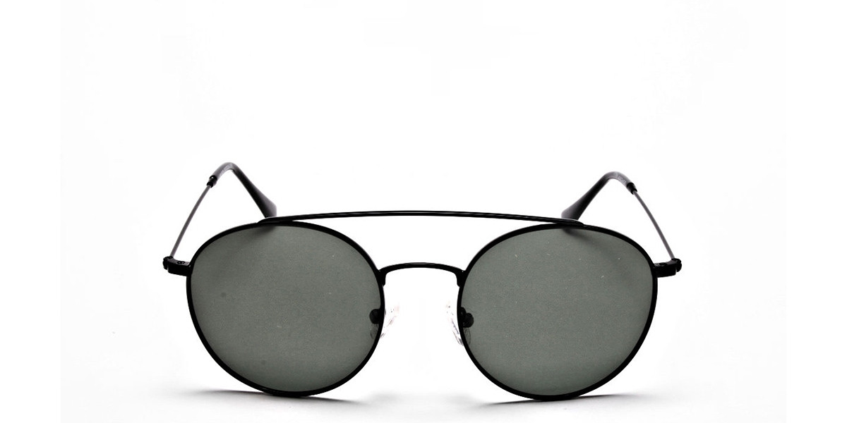 Green Round Sunglasses - 2