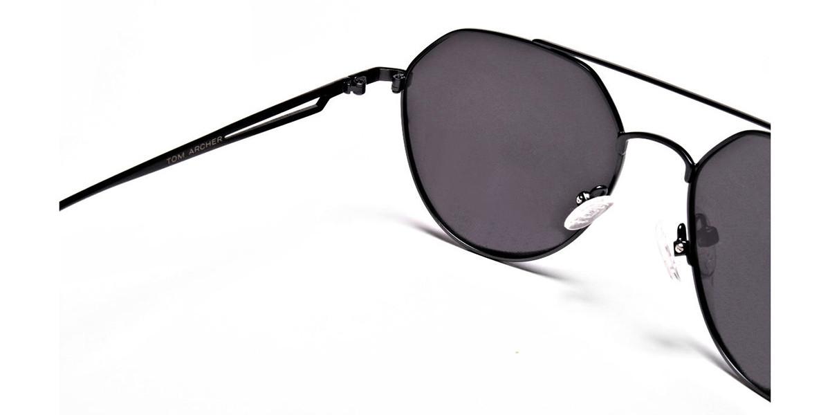 Classic Gunmetal Grey Tinted Sunglasses -2