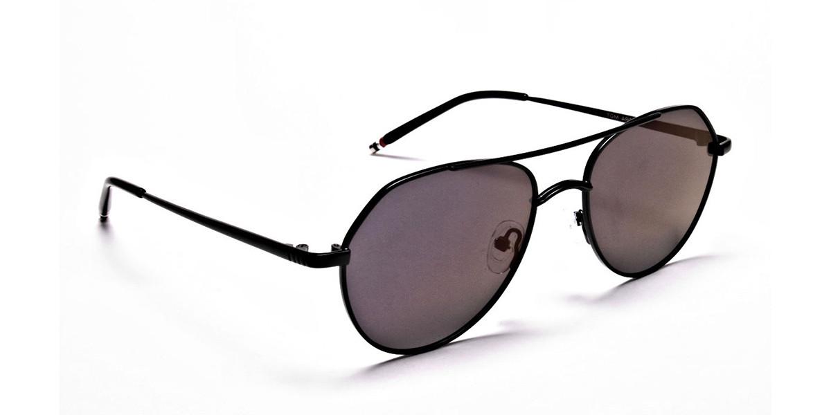 Dark Purple Tinted Sunglasses -3