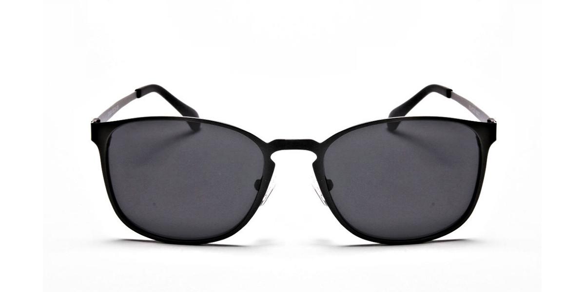 Gunmetal Grey Round Wayfarer Sunglasses - 2