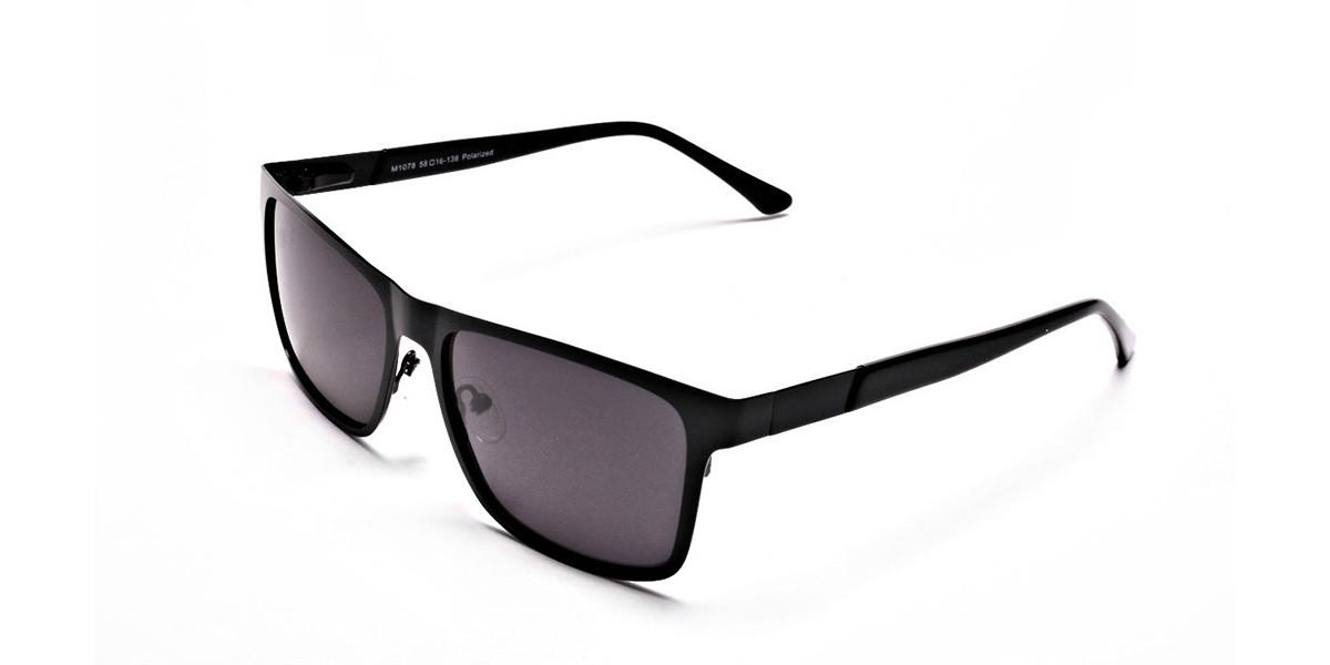 Designer Black Wayfarer Sunglasses - 2