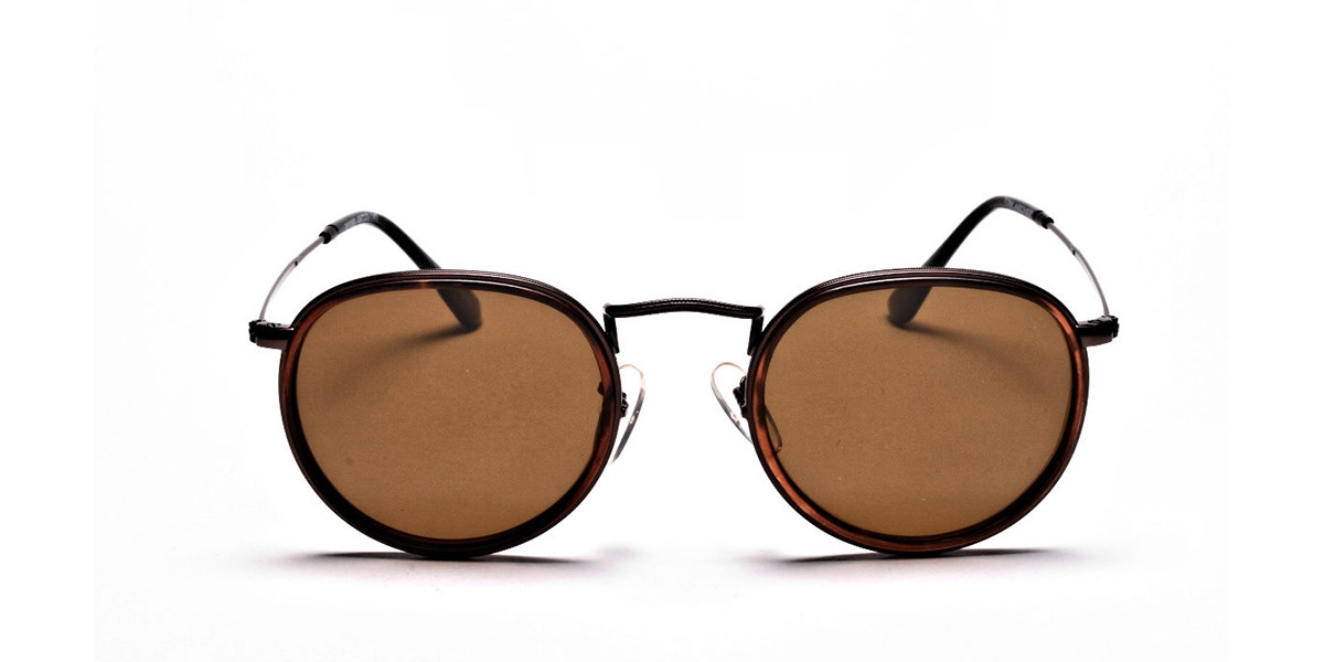 Fashion Brown Round Sunglasses - 2