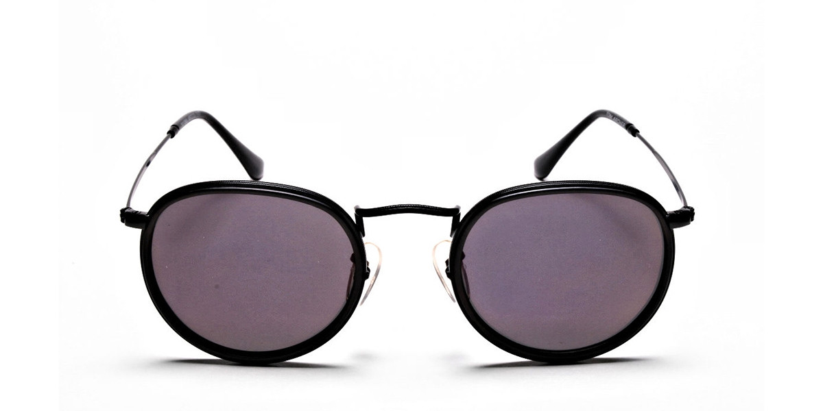 Purple Round Sunglasses for Men and Women - 2