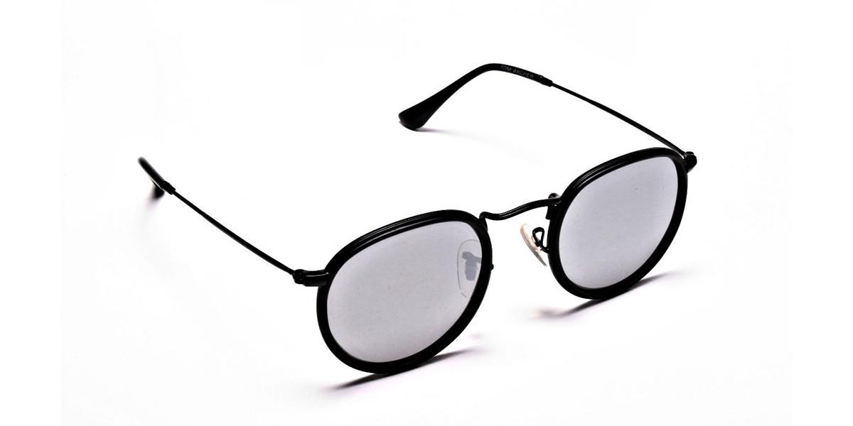 Mirrored Round Sunglasses - 2