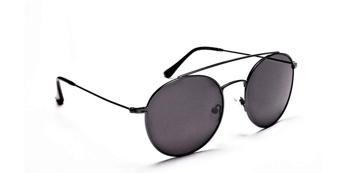 Grey Round Sunglasses - 2
