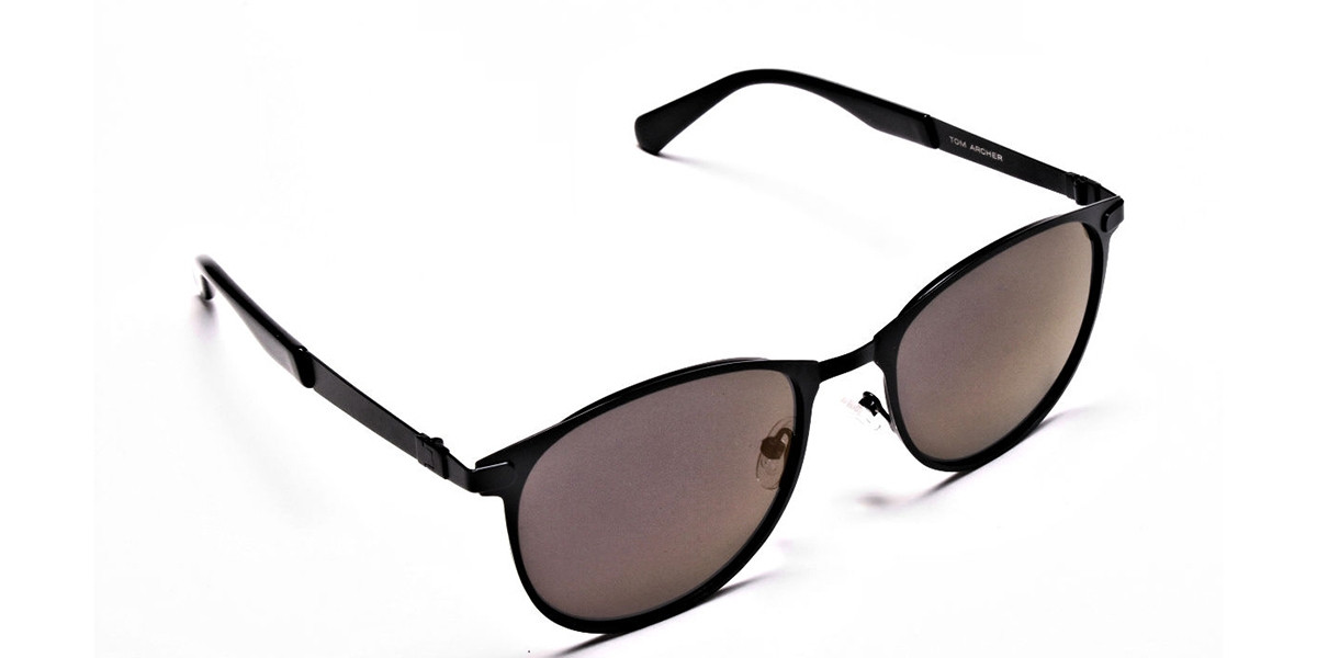 Dark Black Purple Sunglasses-2