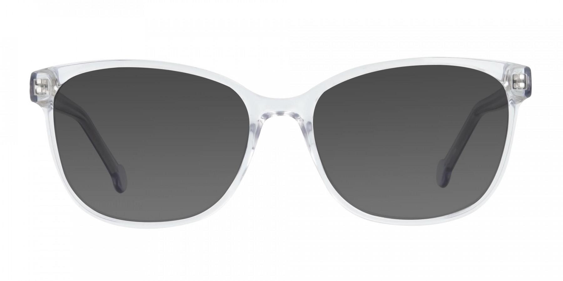 Crystal Clear Frame Sunglasses