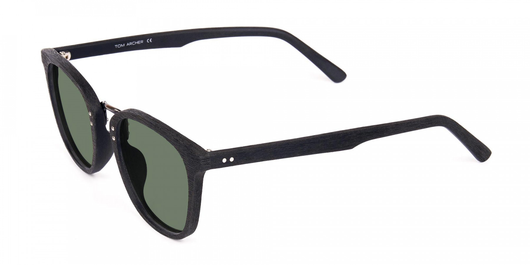 Green-Tint-Square-Shape-Black-Wooden-Sunglasses-3