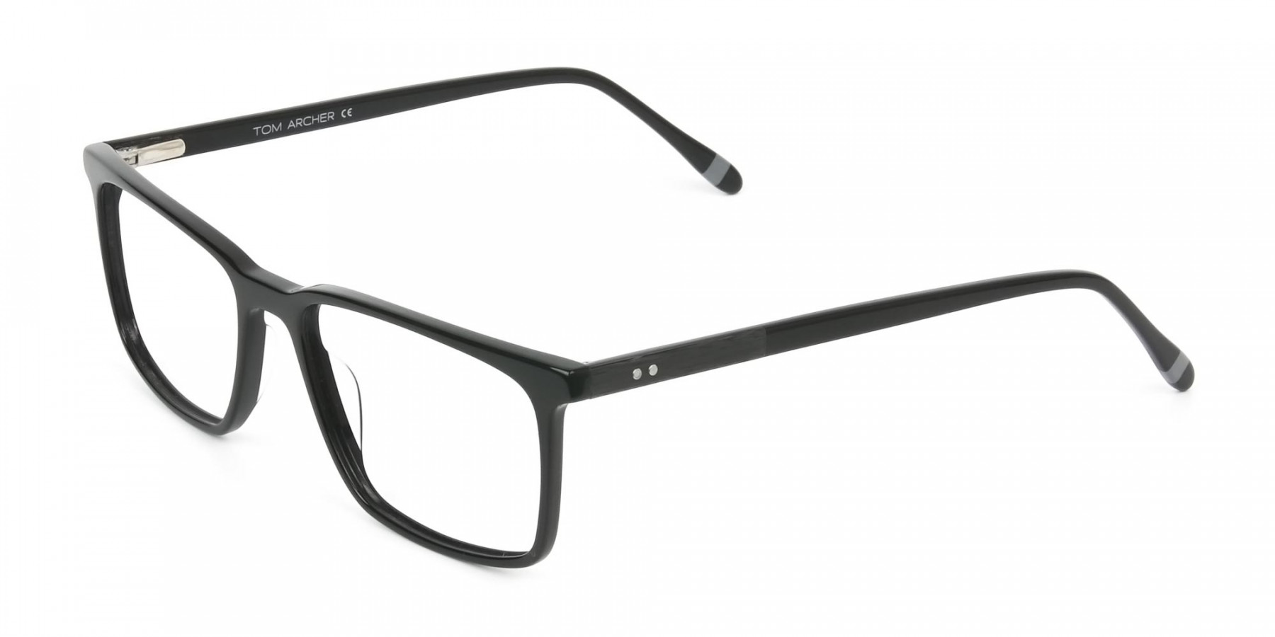 Designer Black Glasses Rectangular - 1