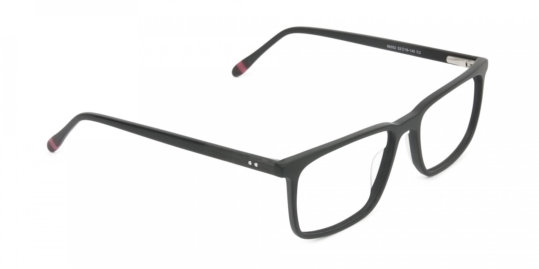Designer Matte Black Optical Glasses - 1