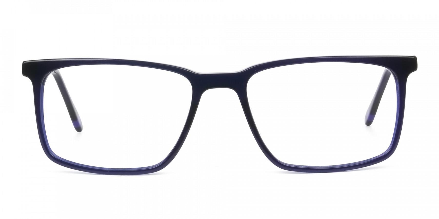 Designer Navy Blue Glasses Rectangular - 1