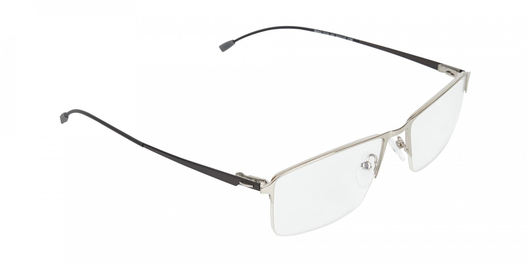 Silver Semi-Rim Rectangle Glasses-1