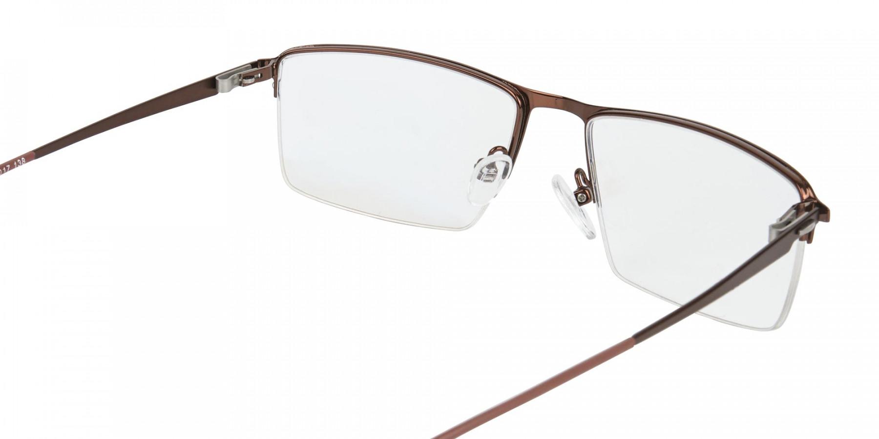 Brown Semi-Rim Glasses with Spring Hinges-1