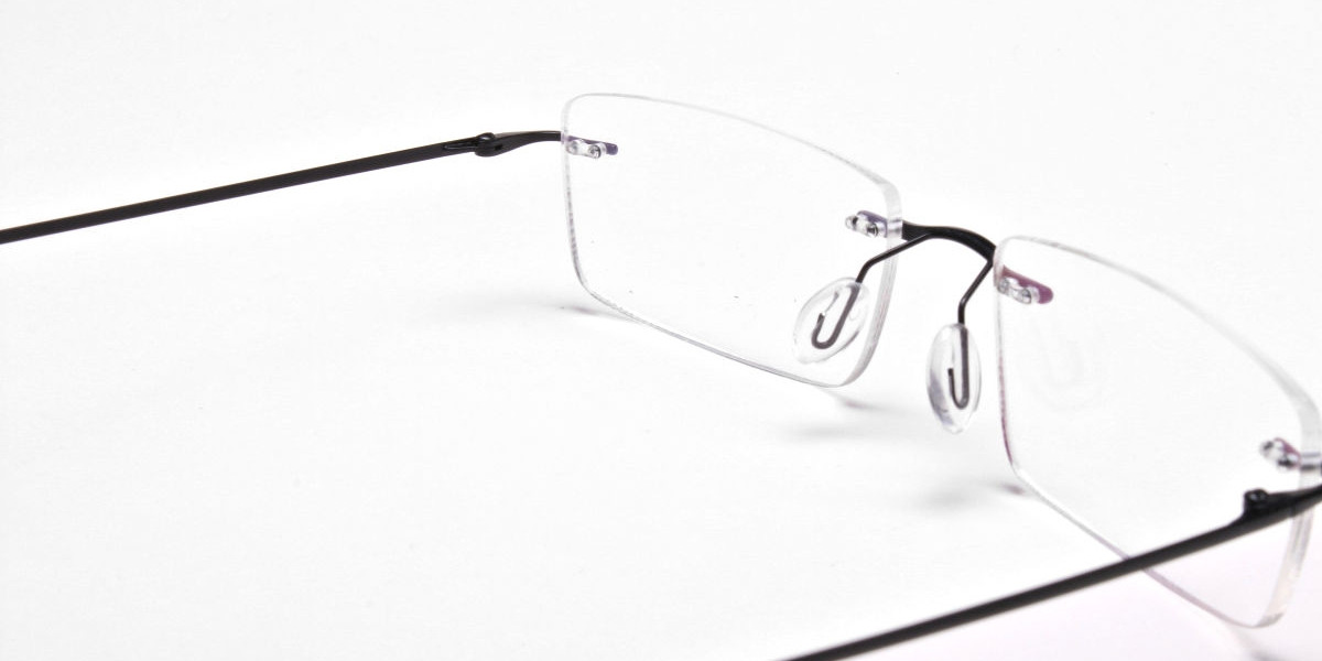 Rimless Glasses in Black for Men & Women - 1