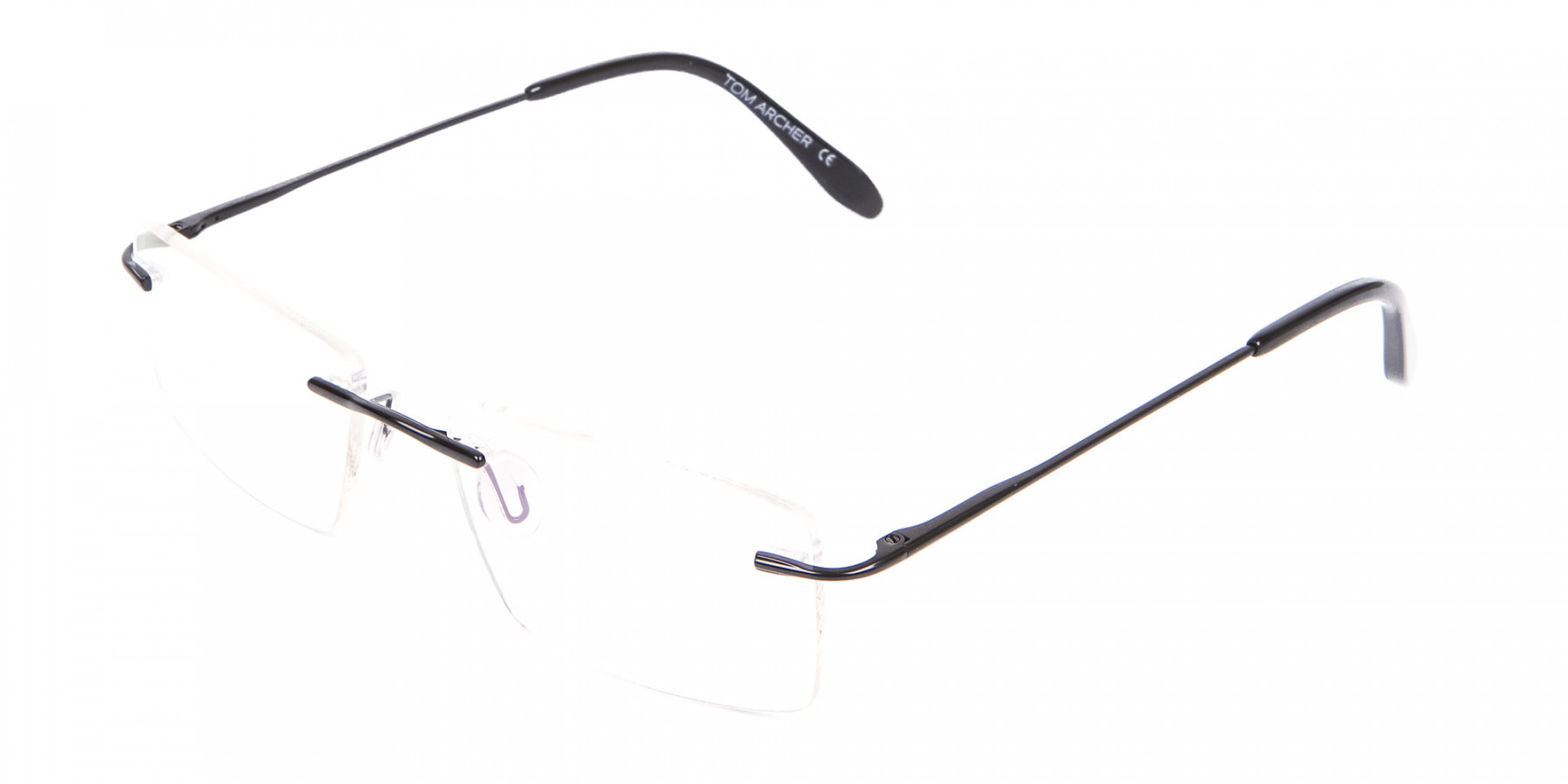 Classic Designer Black Rimless Glasses-1