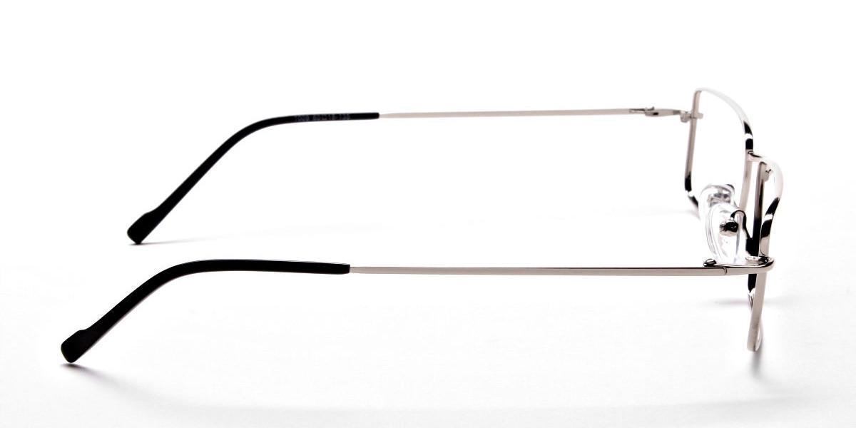 Rectangular Glasses in Silver, Eyeglasses -1
