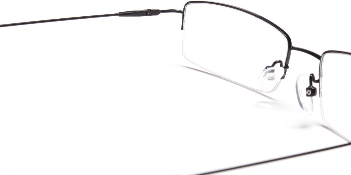 Sleek - Black Rectangular Glasses -1