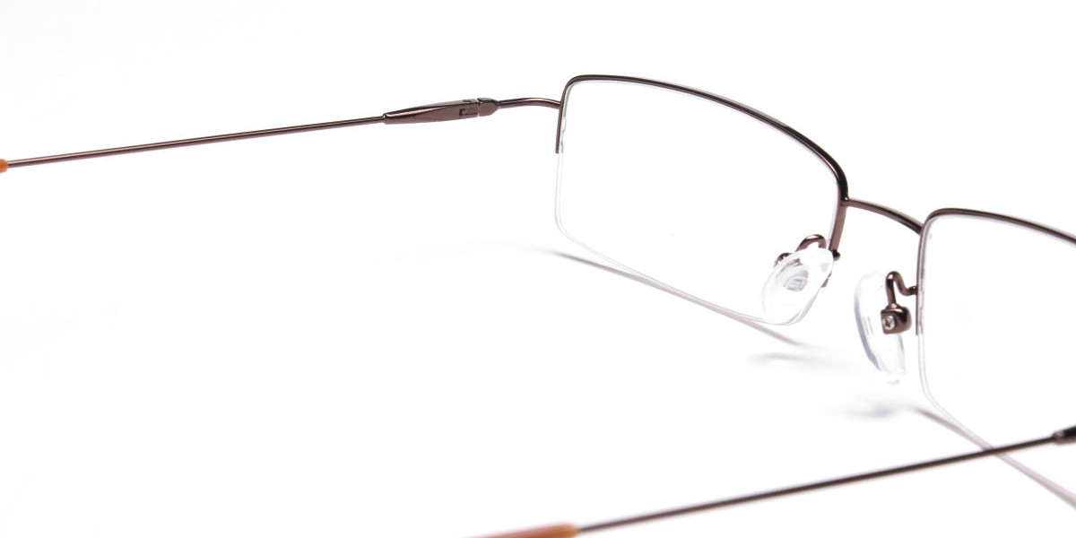 Rectangular Glasses in Brown, Eyeglasses -1