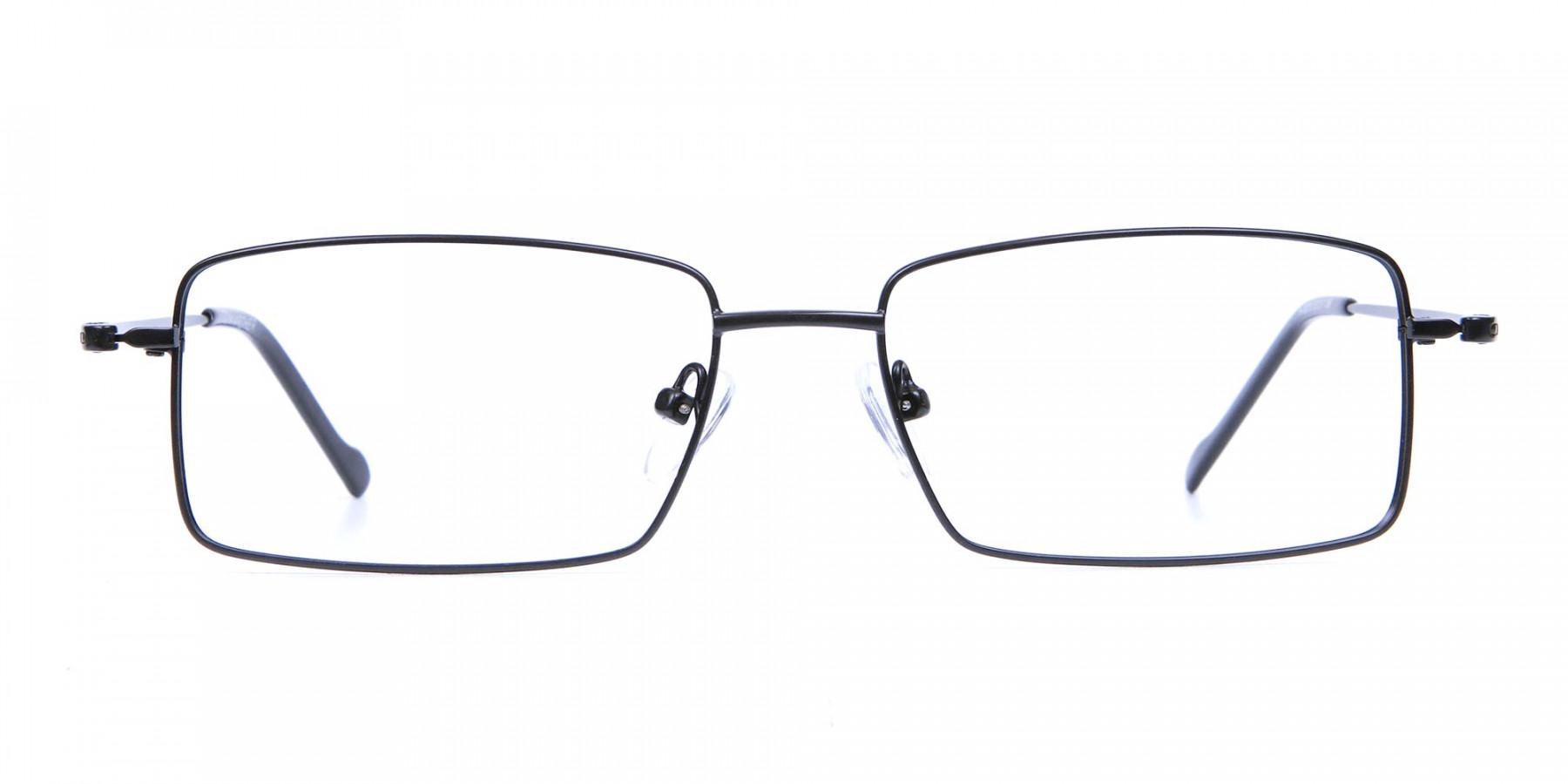 Black Full Rim Metal Glasses - 1