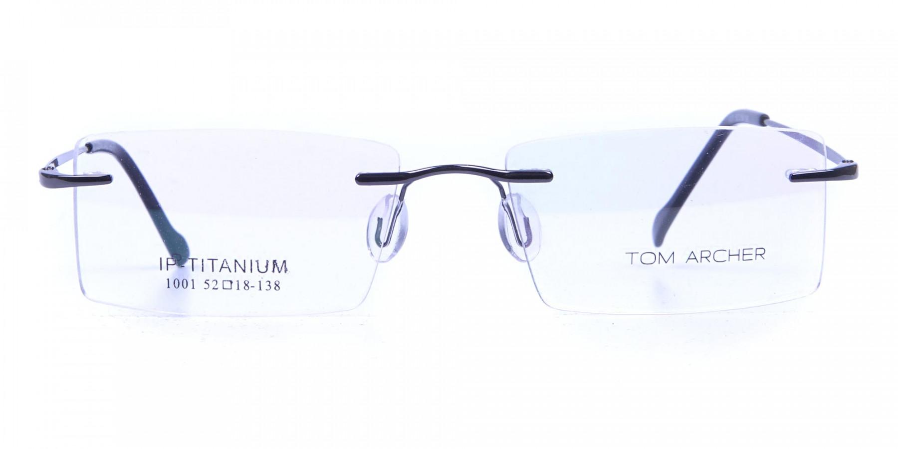 Gunmetal Rimless Eyeglasses Framesl for Men & Women -1