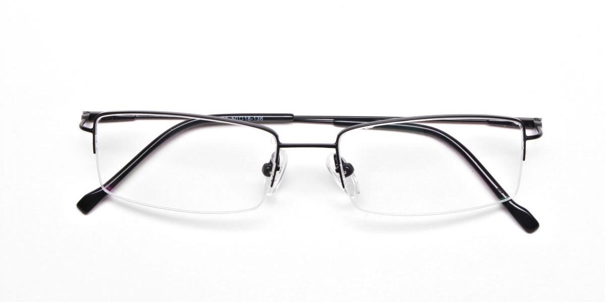 Sleek - Black Rectangular Glasses -1
