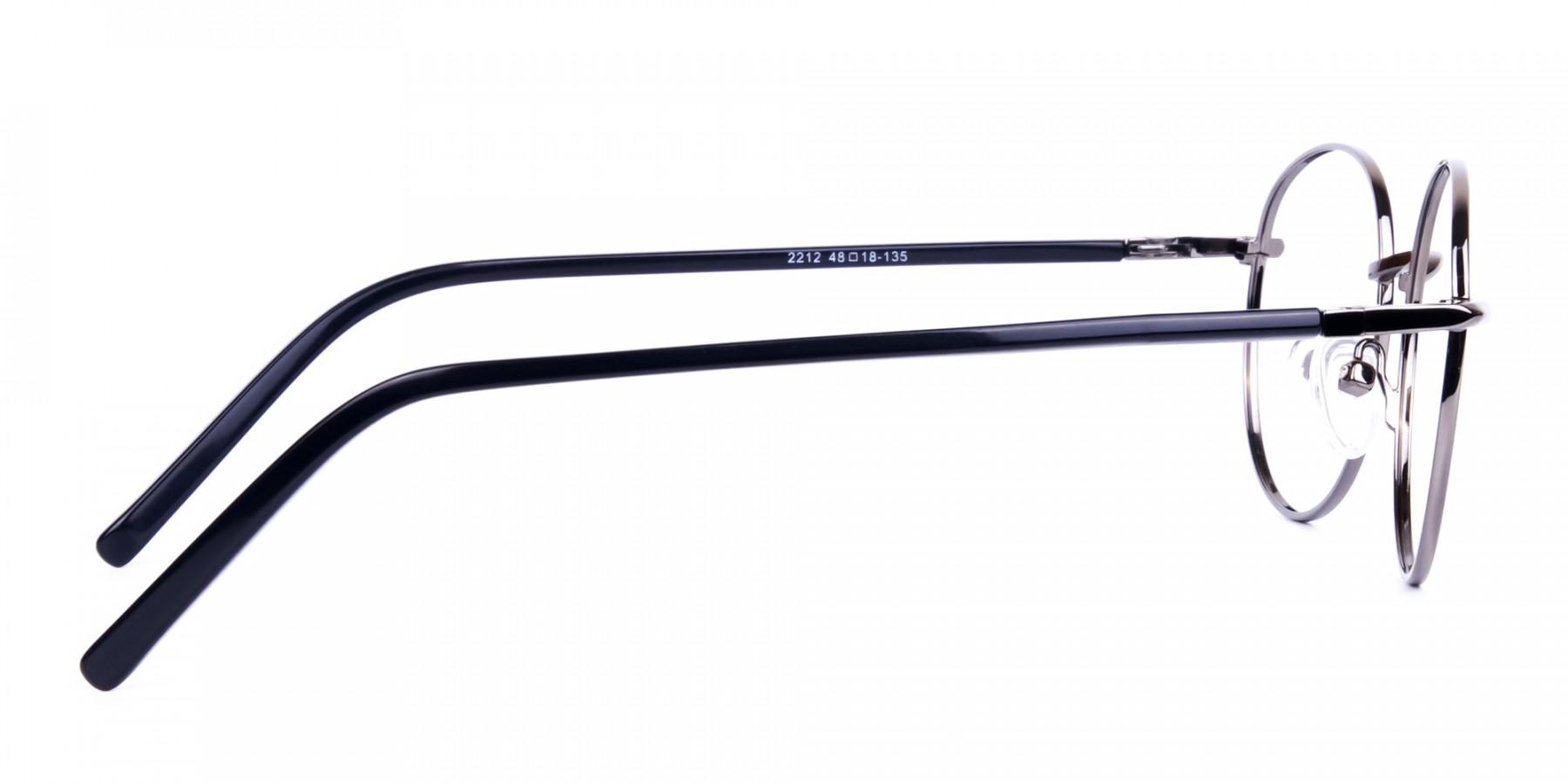 round titanium eyeglass frames-1