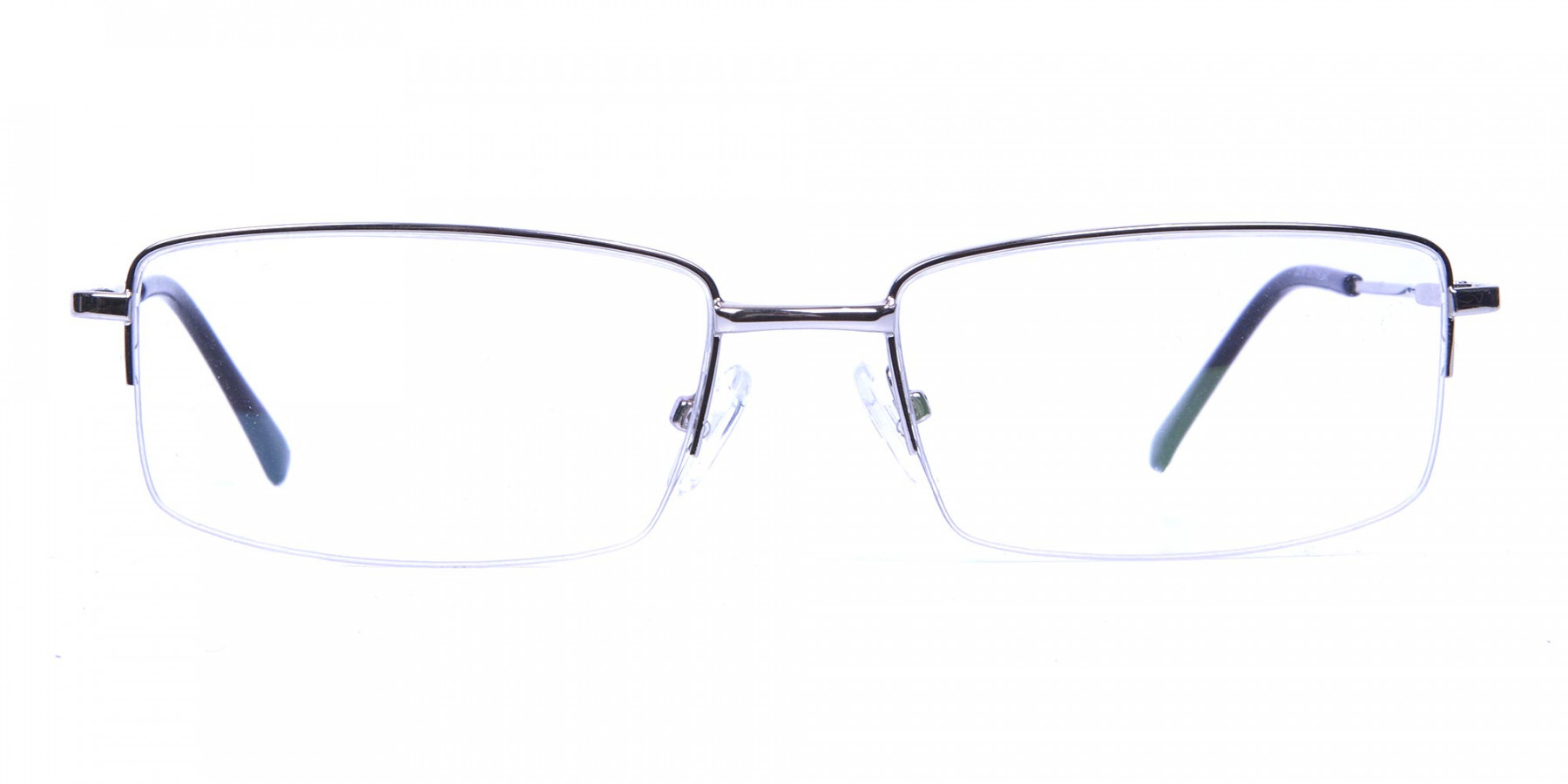 Rectangular glasses in Silver- 1