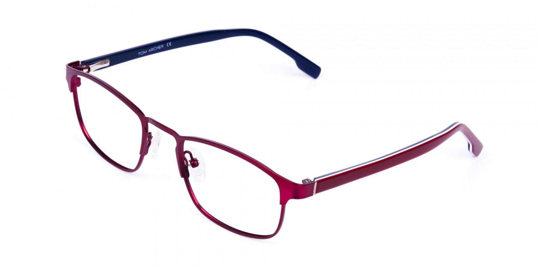 Metallic-Red-Rectangle-Glasses-Frames-1