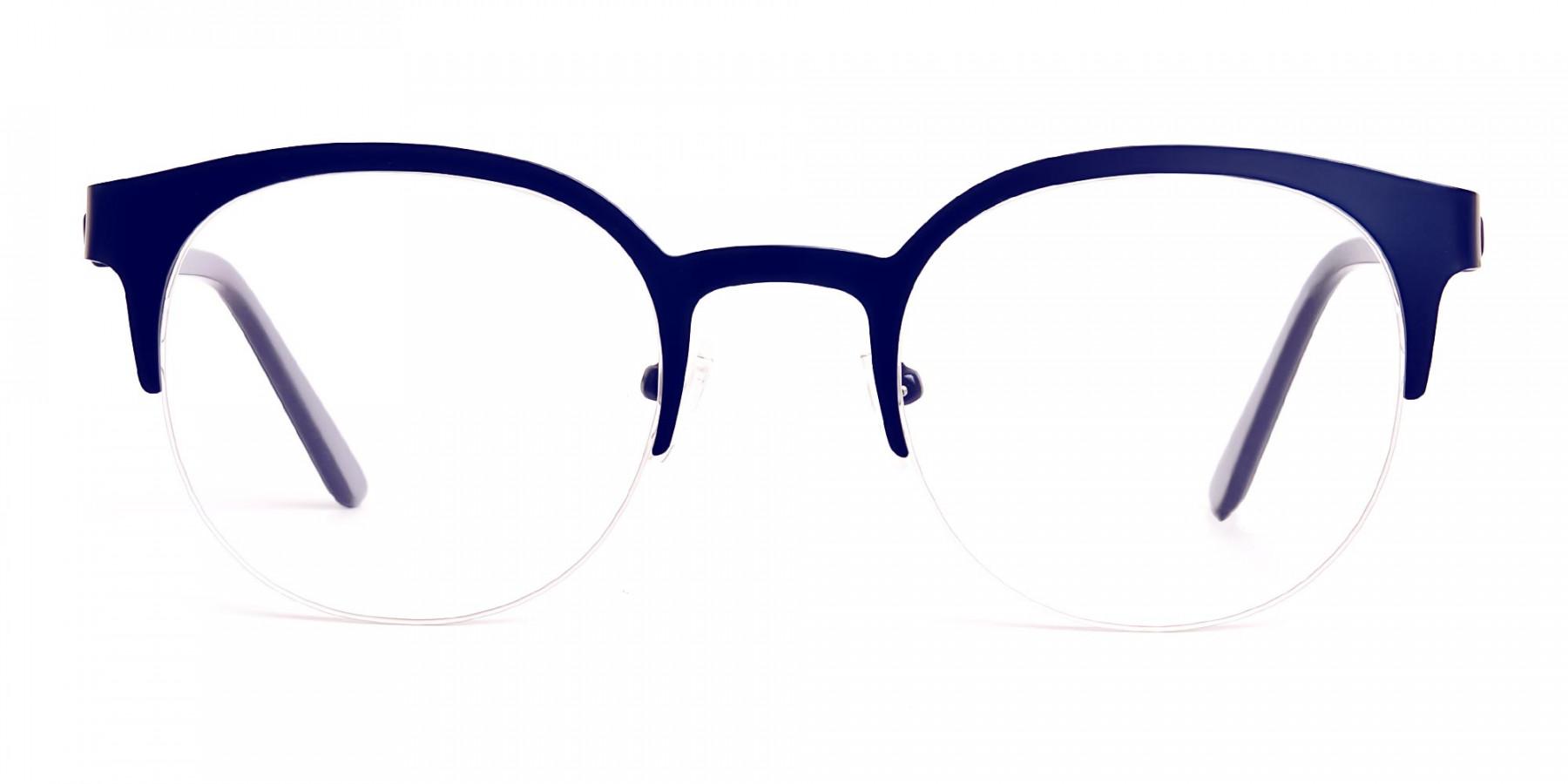 dark-blue-half-rim-round-glasses-frames-1