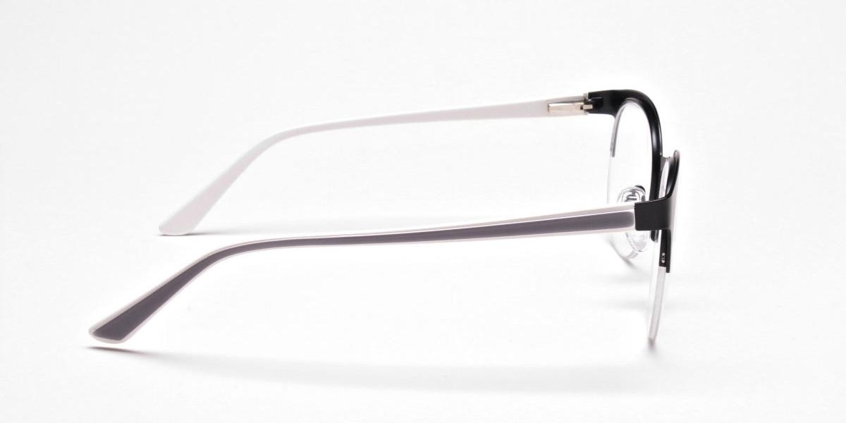 Browline Eyeglasses in Matte Black, Eyeglasses - 1