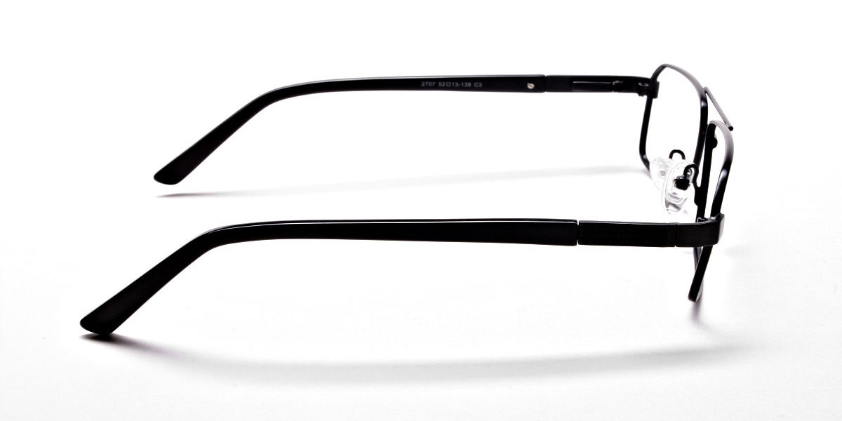 Black Rectangular Glasses, Eyeglasses