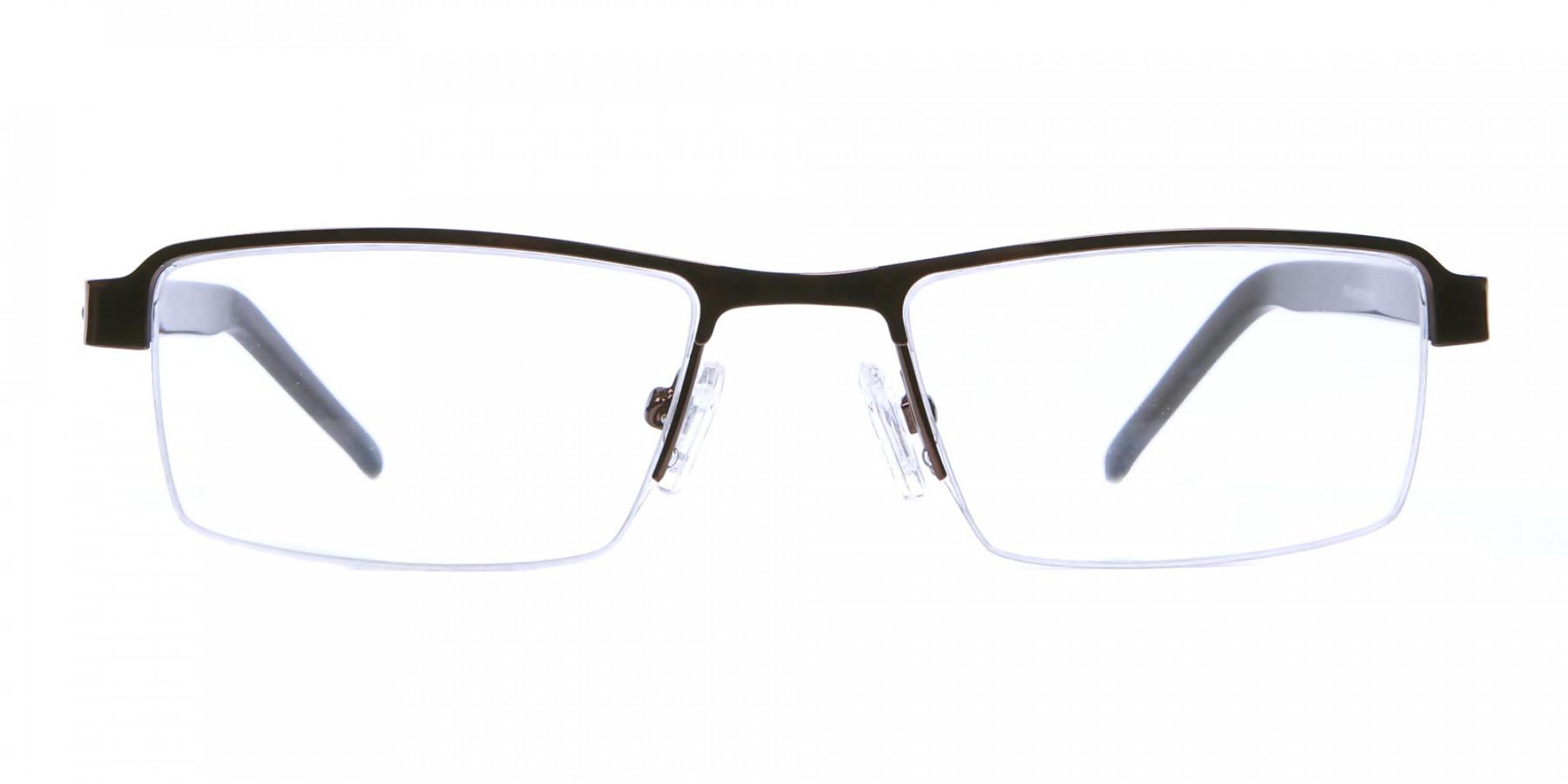 Brown Rectangular Glasses, Eyeglasses